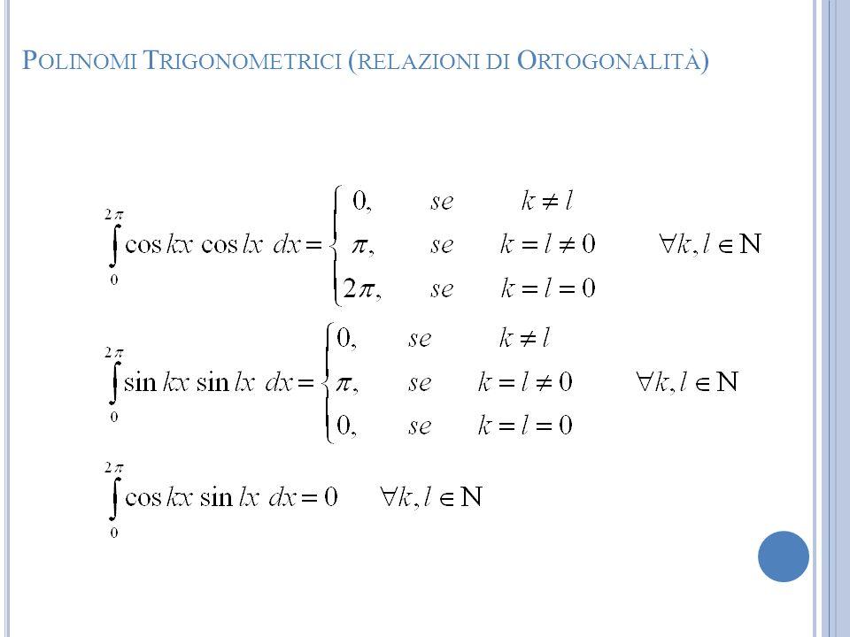 Polinomi Trigonometrici (relazioni di Ortogonalità)