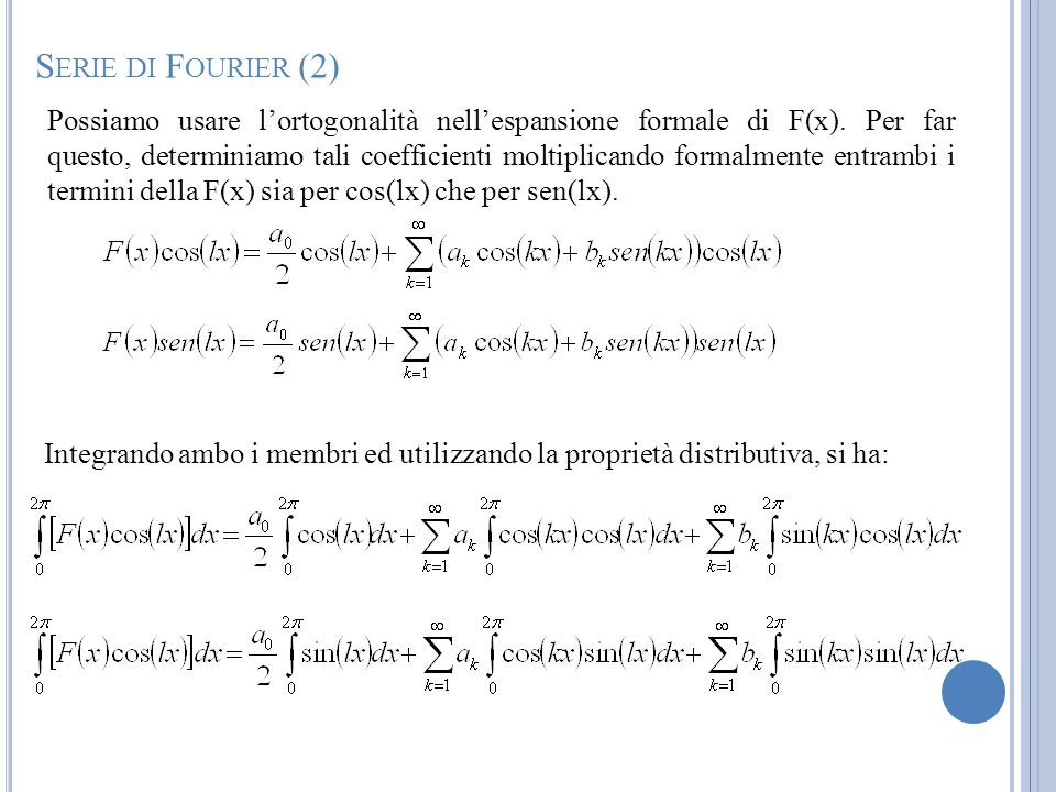 Serie di Fourier (2)