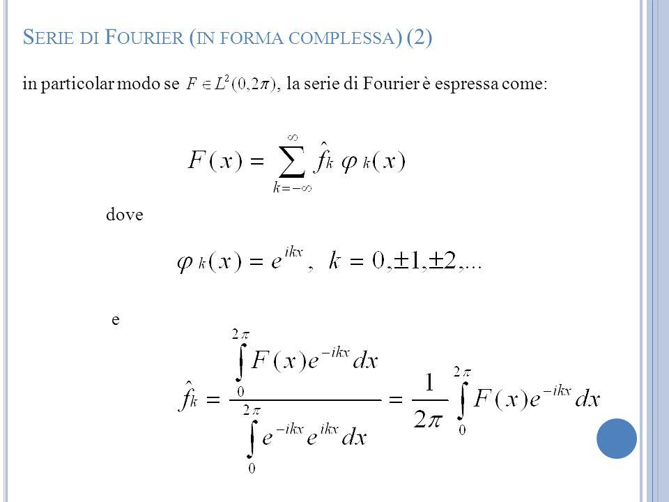 Serie di Fourier (in forma complessa) (2)