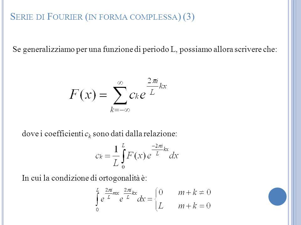 Serie di Fourier (in forma complessa) (3)