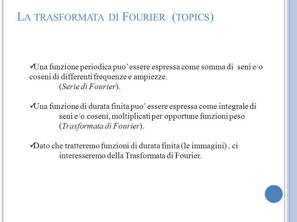 La trasformata di Fourier (topics)