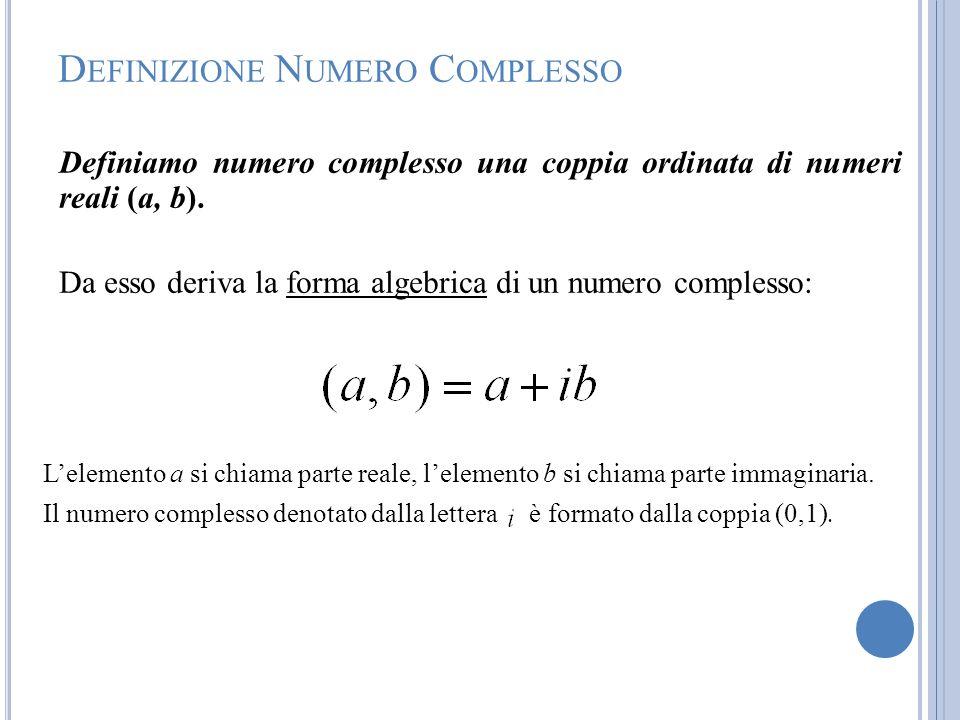 Definizione Numero Complesso
