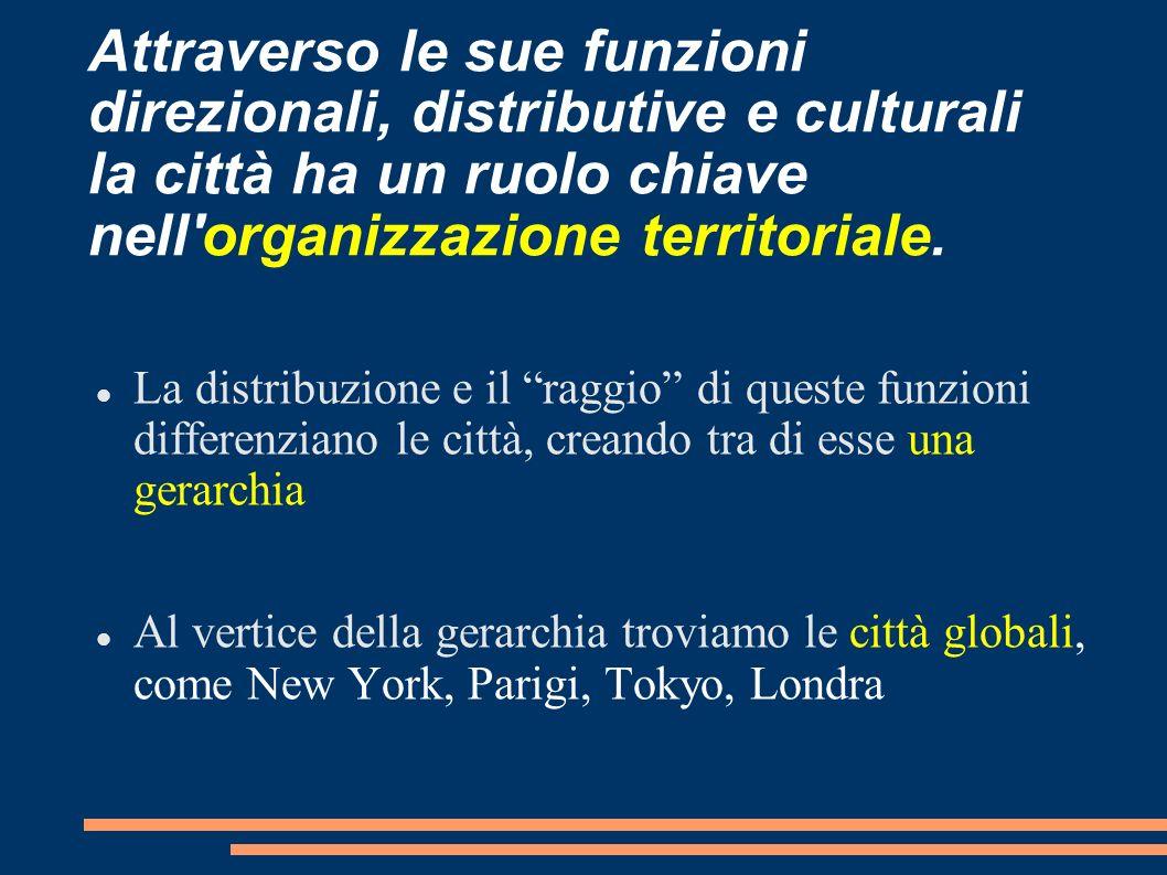 Attraverso le sue funzioni direzionali, distributive e culturali la città ha un ruolo chiave nell organizzazione territoriale.
