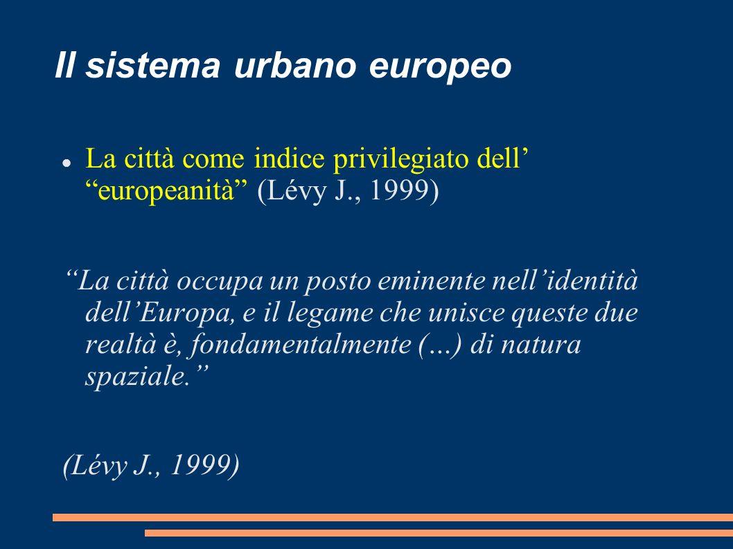 Il sistema urbano europeo