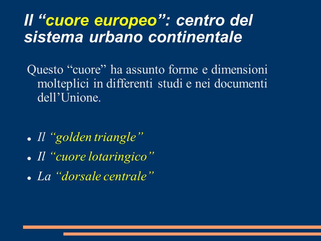 Il cuore europeo : centro del sistema urbano continentale