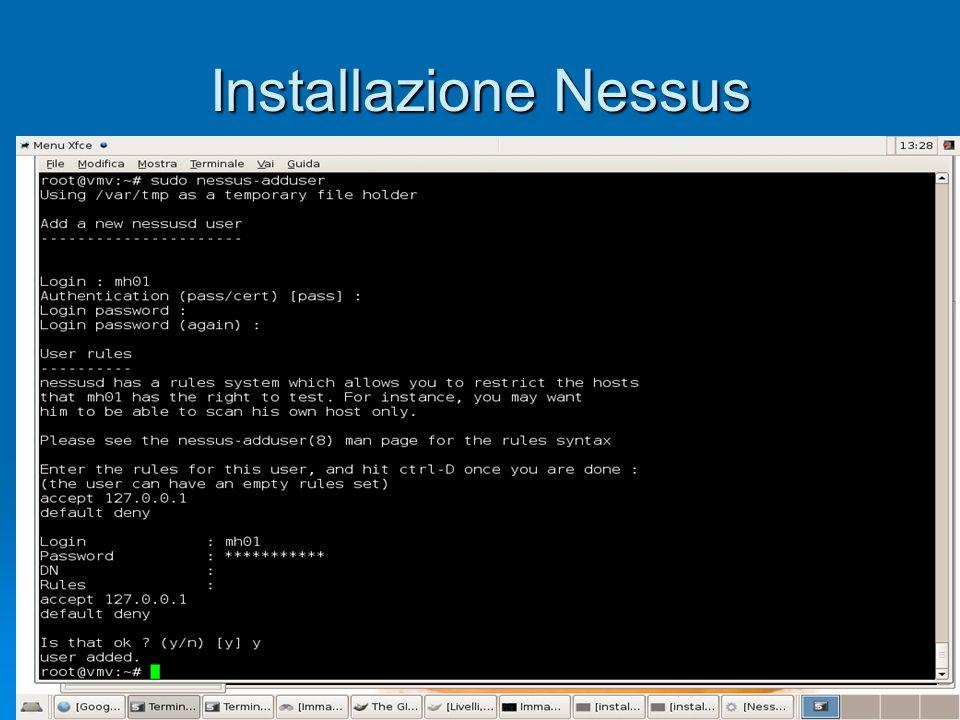 Installazione Nessus