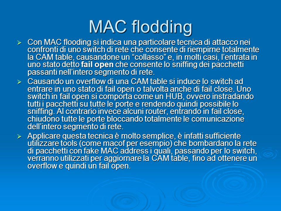 MAC flodding