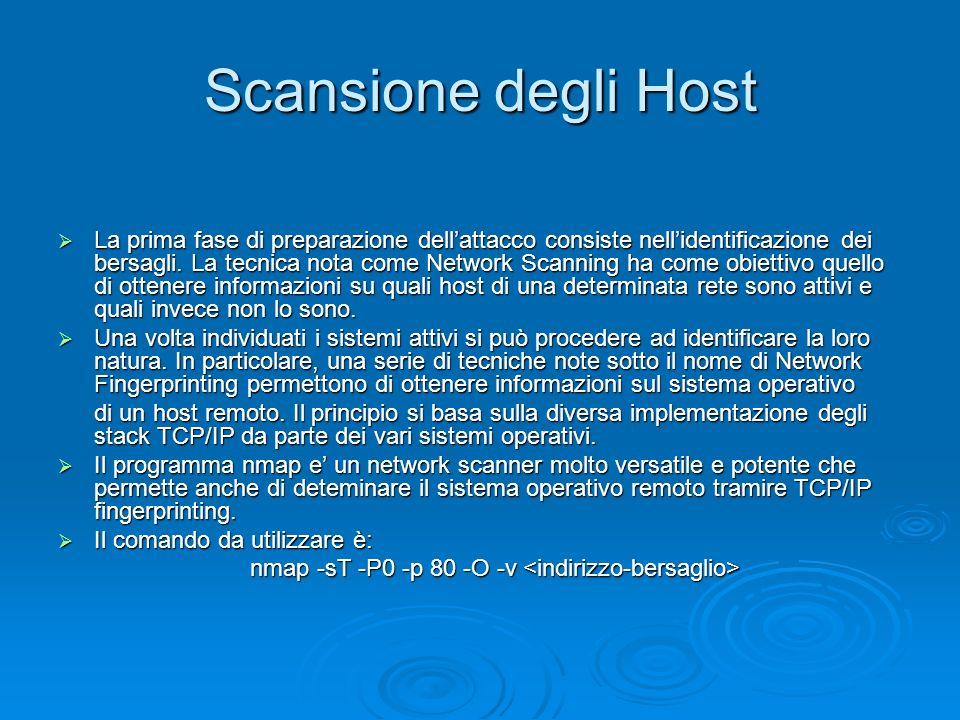 Scansione degli Host