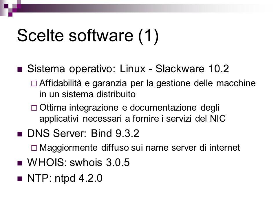 Scelte software (1) Sistema operativo: Linux - Slackware 10.2
