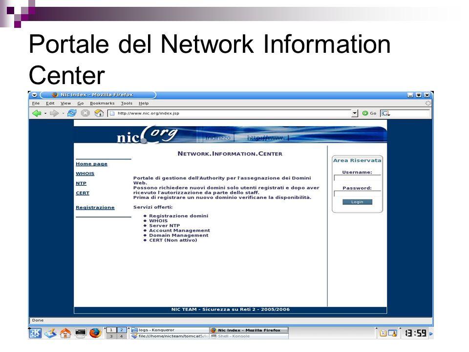 Portale del Network Information Center