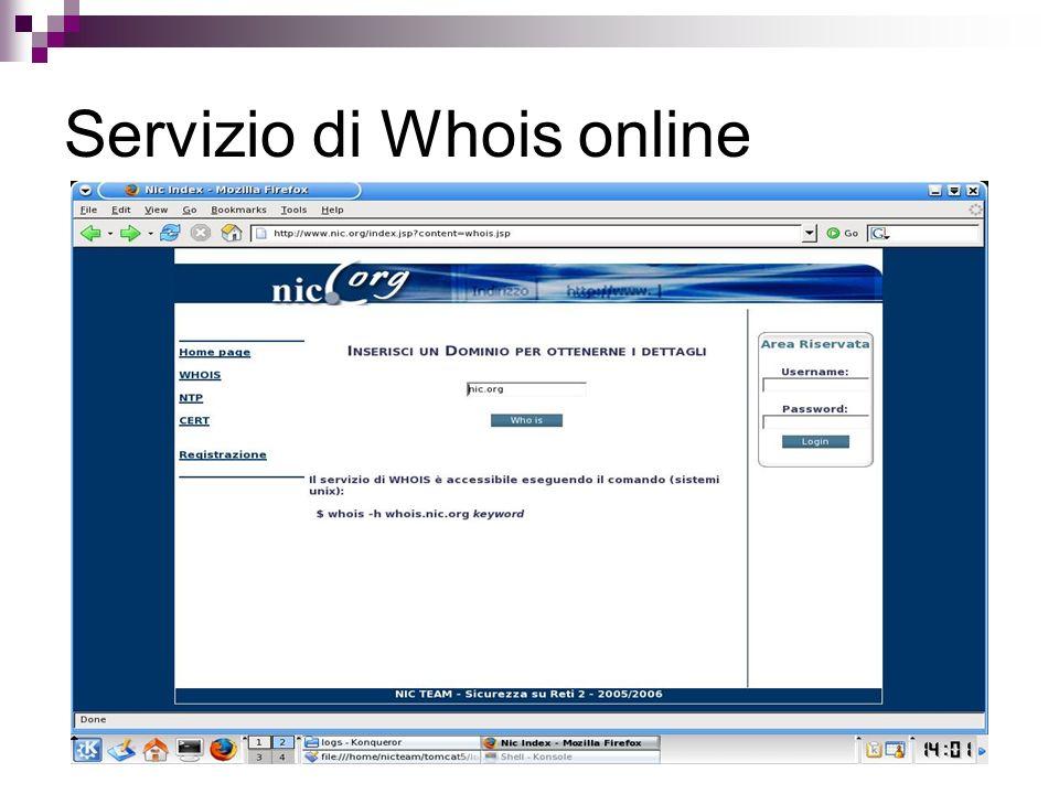 Servizio di Whois online