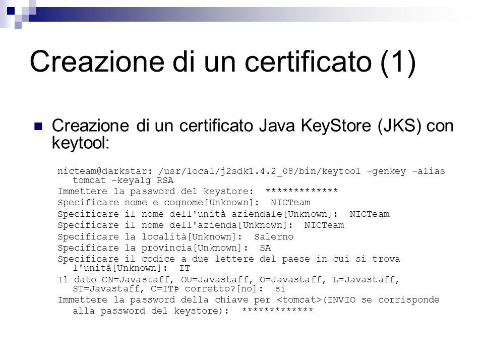 Creazione di un certificato (1)