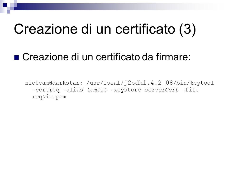 Creazione di un certificato (3)