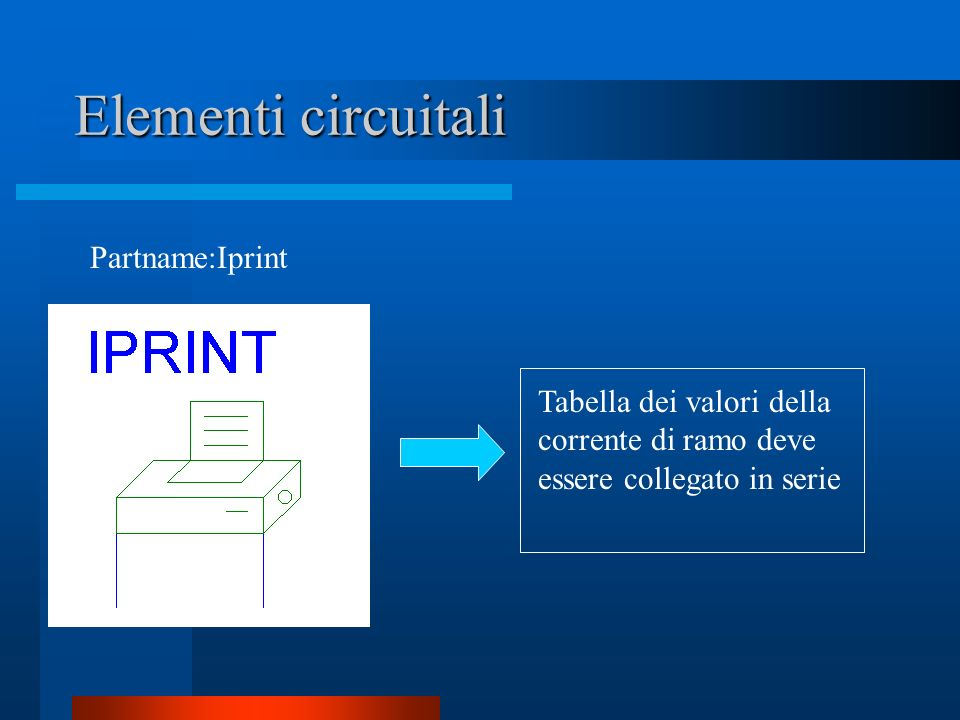Elementi circuitali Partname:Iprint