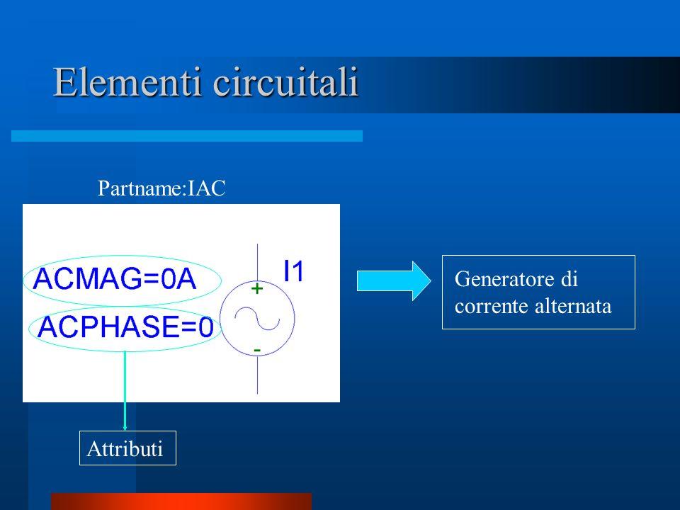 Elementi circuitali Partname:IAC Generatore di corrente alternata