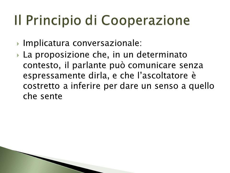 Il Principio di Cooperazione