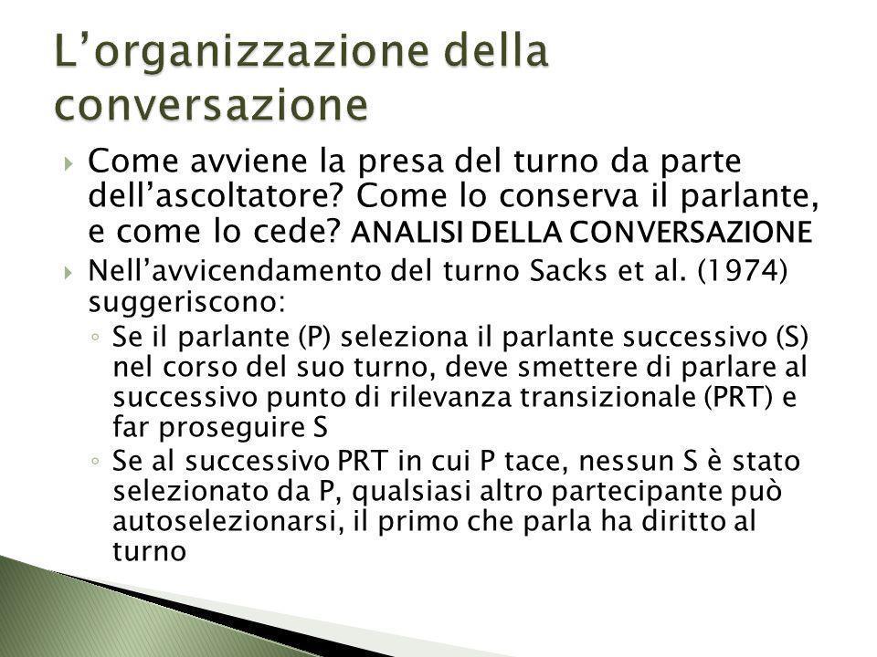 L'organizzazione della conversazione