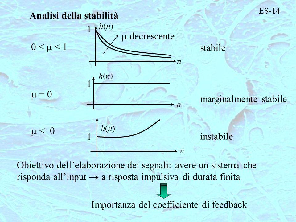 Analisi della stabilità