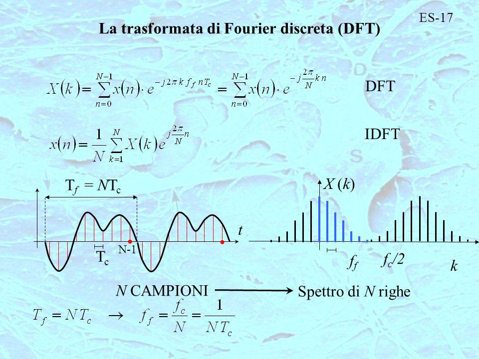 La trasformata di Fourier discreta (DFT)