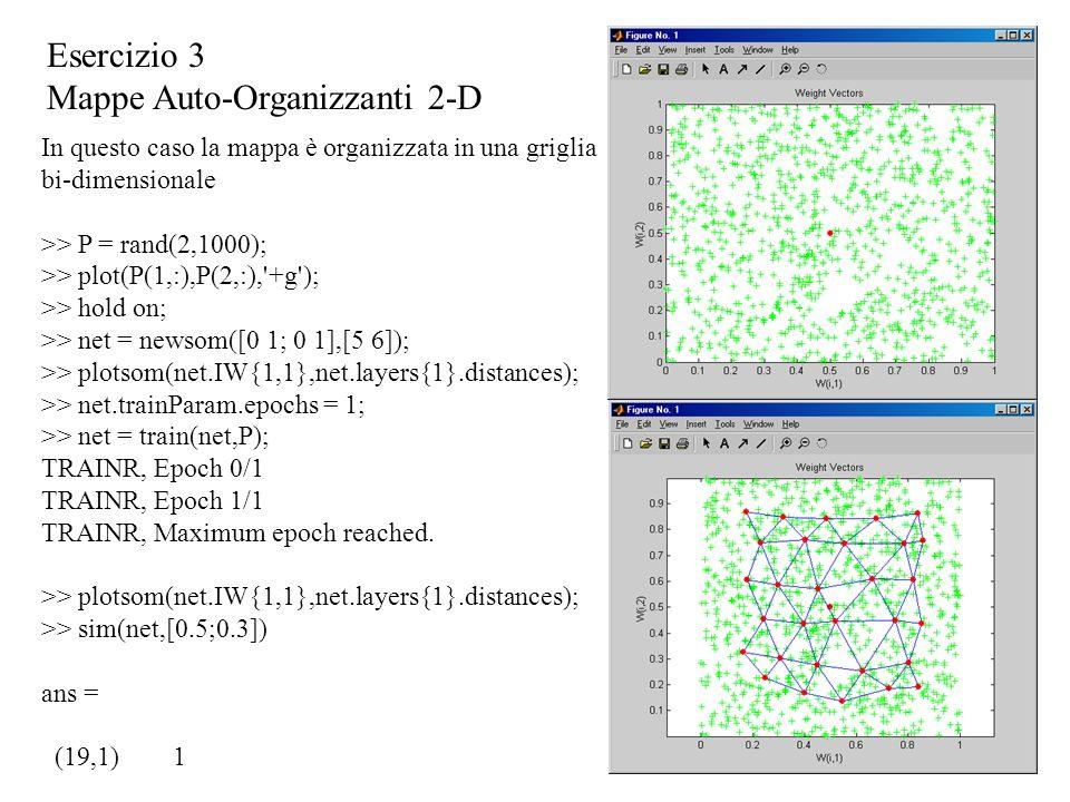 Mappe Auto-Organizzanti 2-D