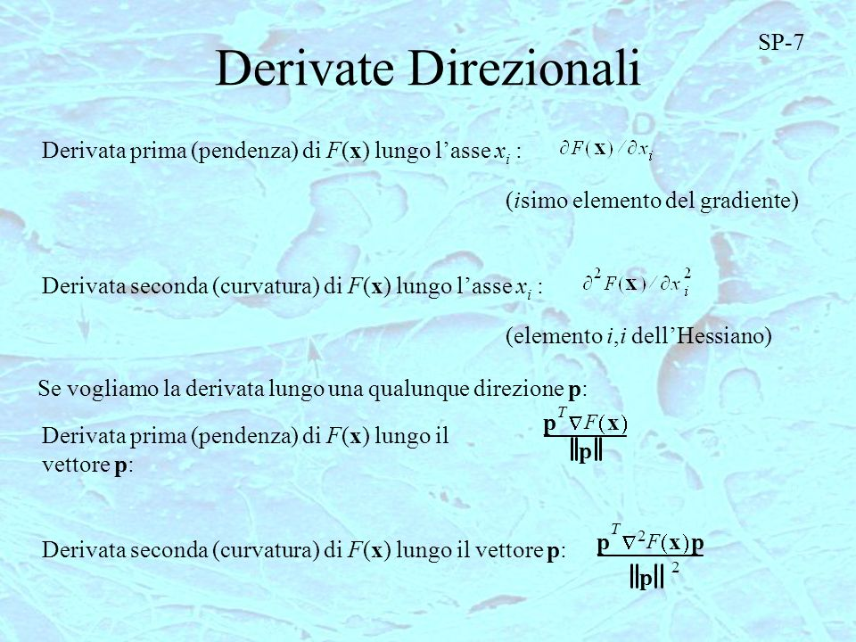 Derivate Direzionali SP-7