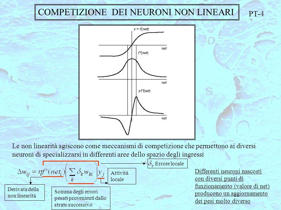 COMPETIZIONE DEI NEURONI NON LINEARI