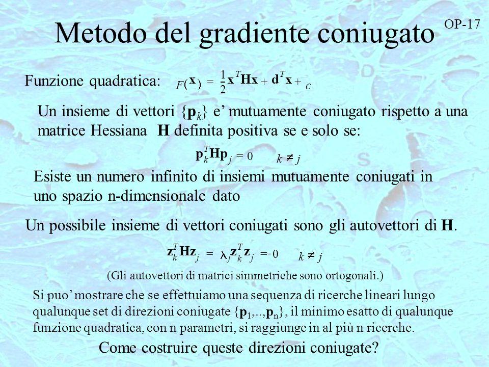 Metodo del gradiente coniugato