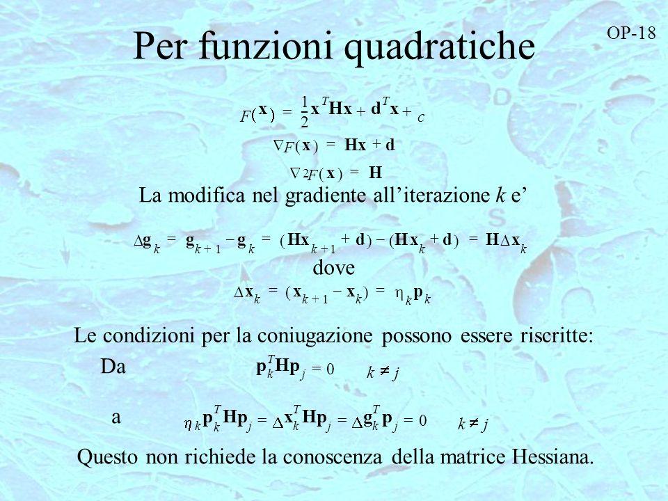 Per funzioni quadratiche