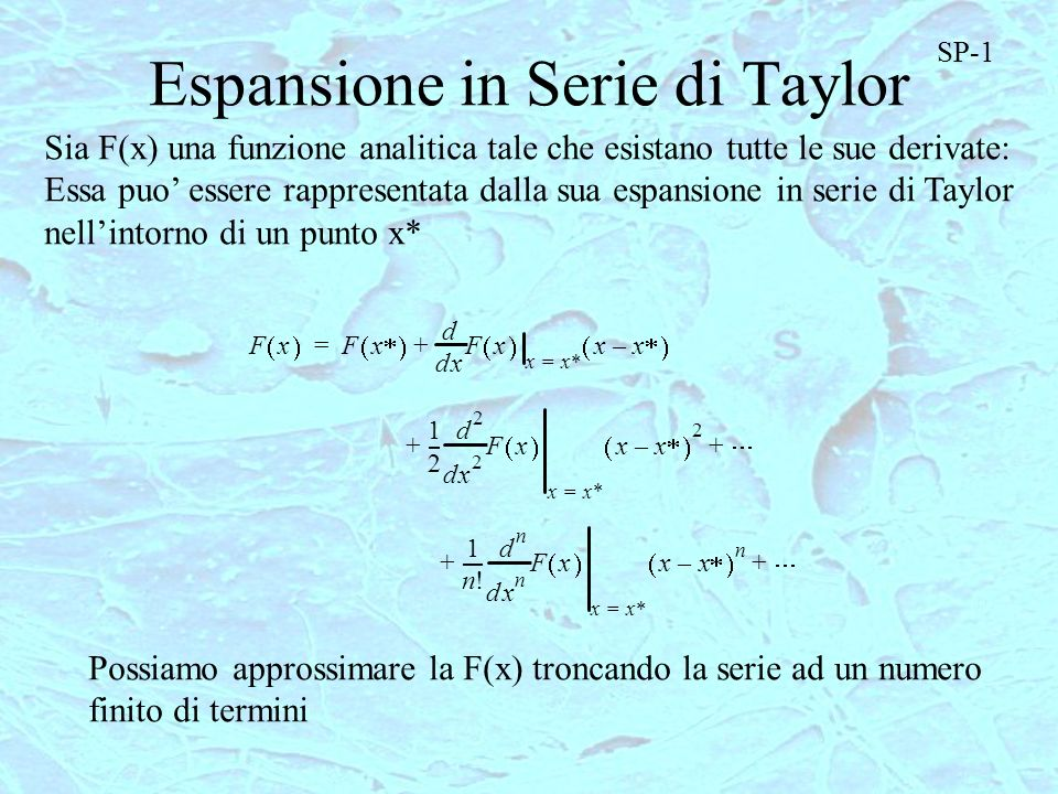 Espansione in Serie di Taylor