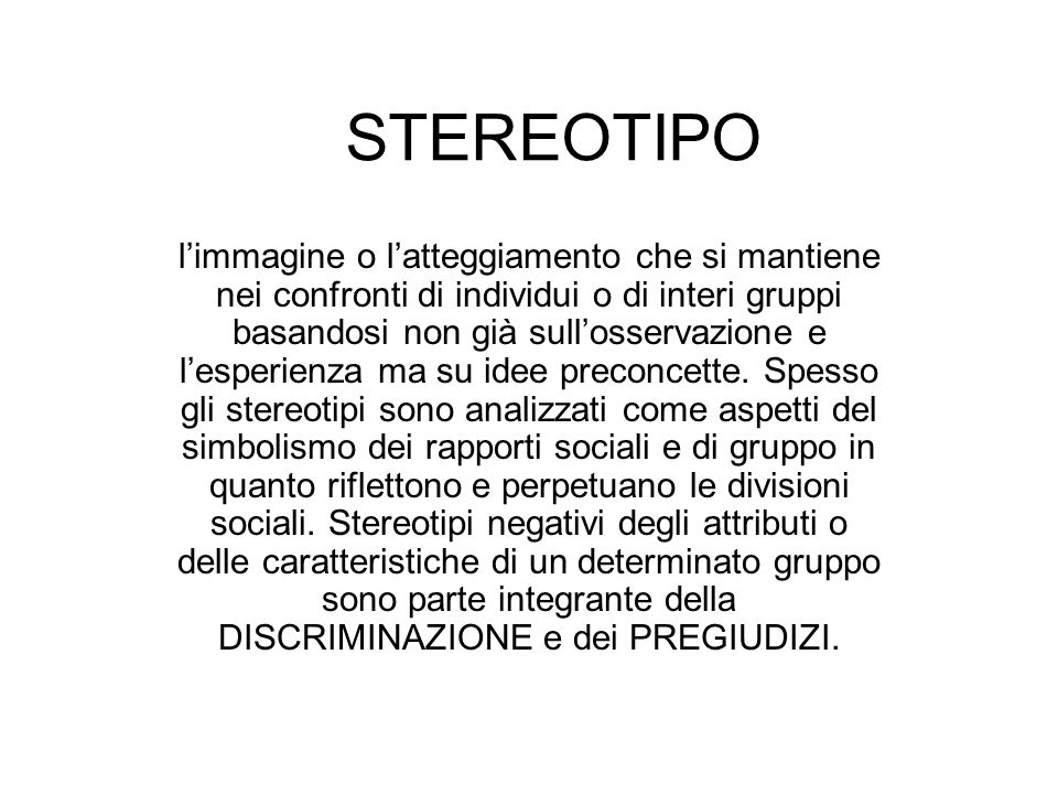 STEREOTIPO