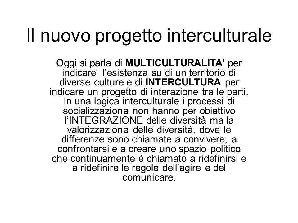 Il nuovo progetto interculturale