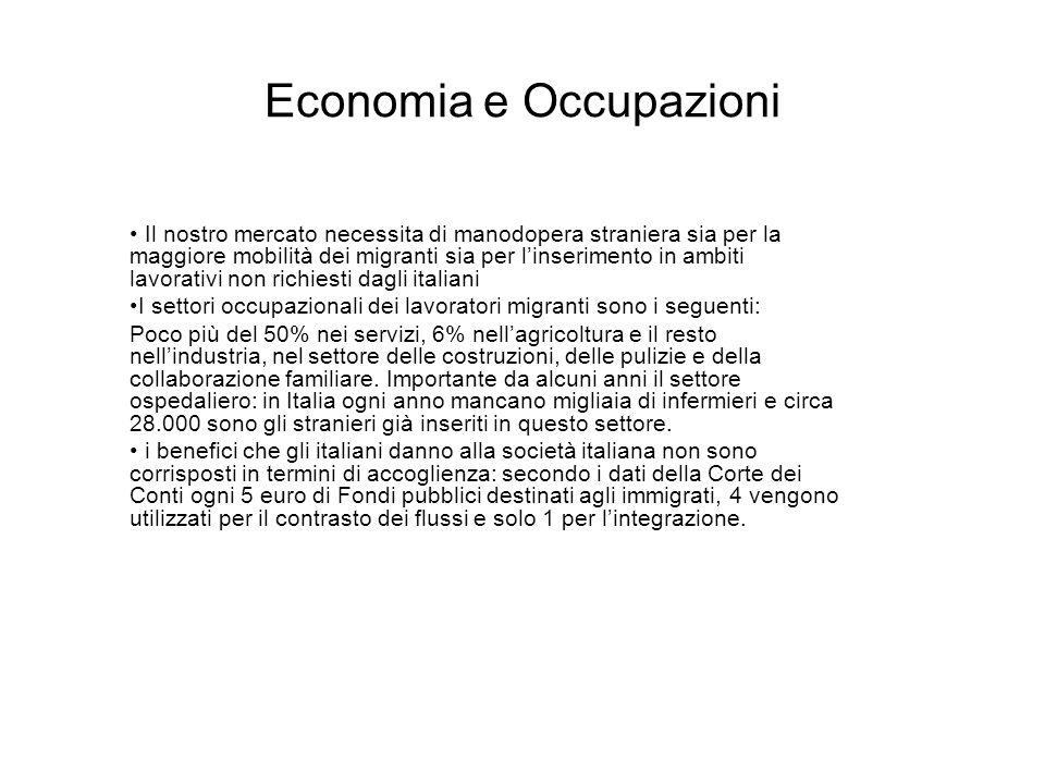 Economia e Occupazioni