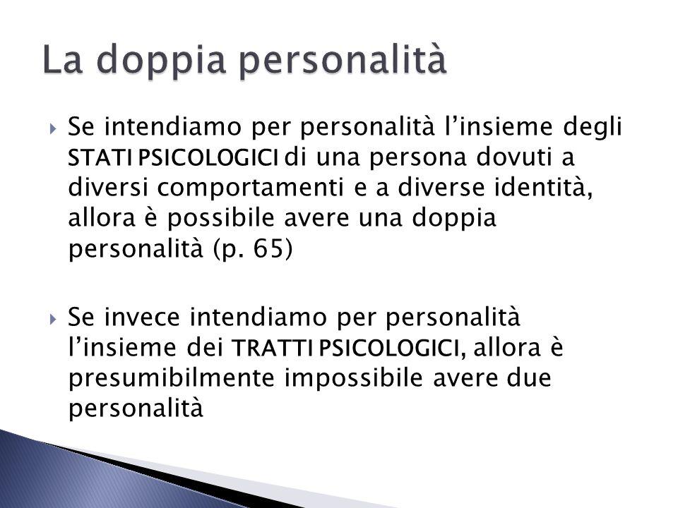 La doppia personalità