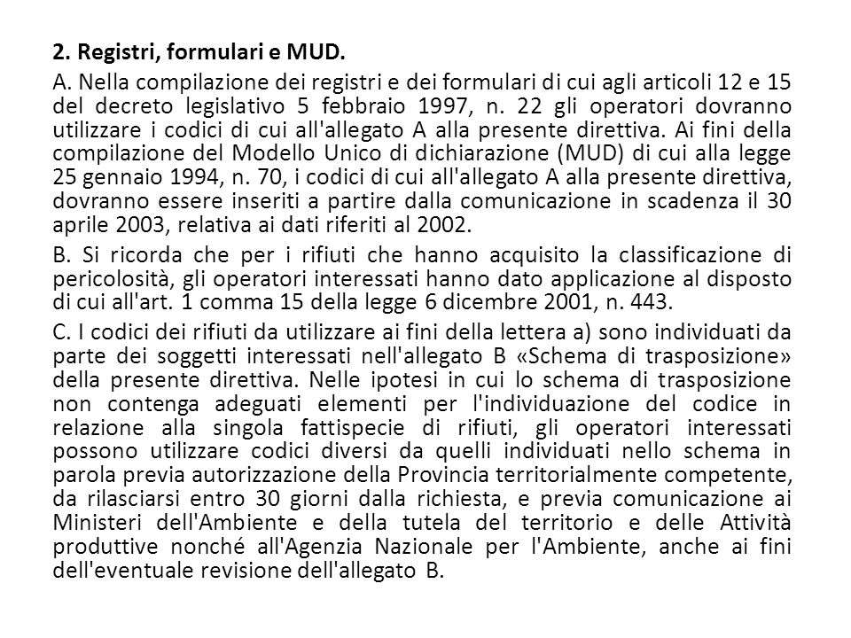 2. Registri, formulari e MUD.