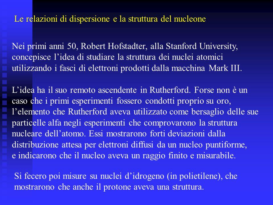 Le relazioni di dispersione e la struttura del nucleone