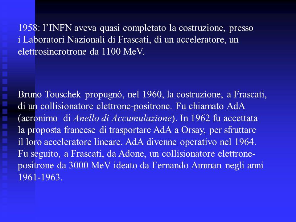 1958: l'INFN aveva quasi completato la costruzione, presso
