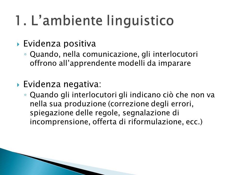 1. L'ambiente linguistico