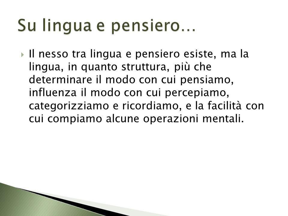Su lingua e pensiero…