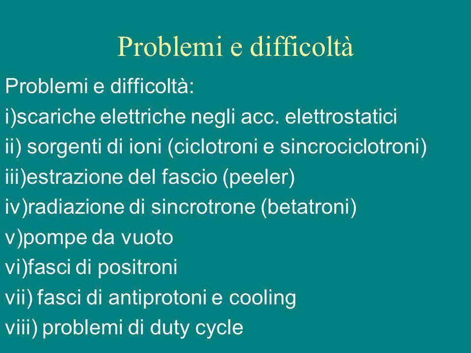 Problemi e difficoltà Problemi e difficoltà: