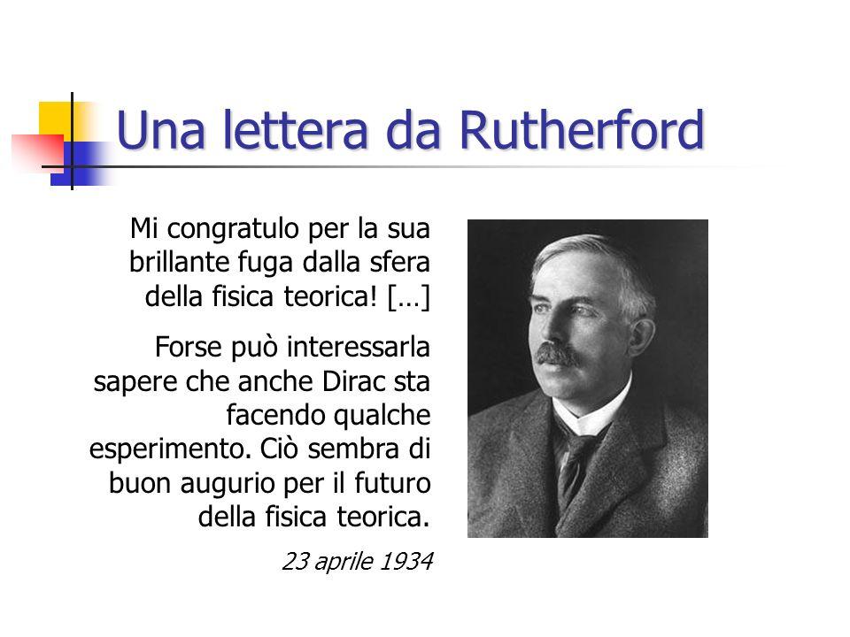 Una lettera da Rutherford