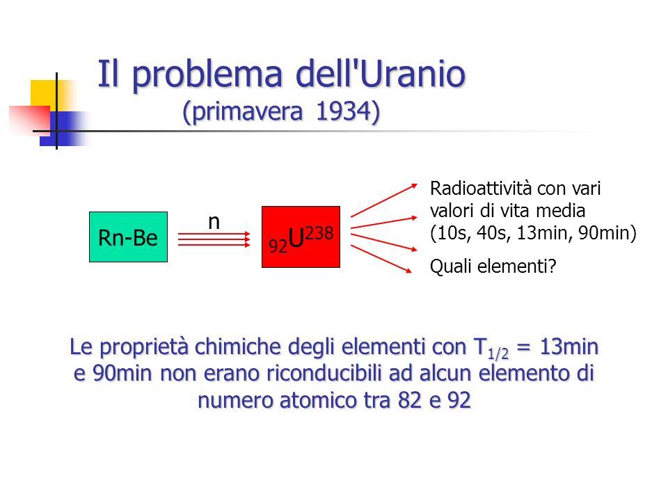 Il problema dell Uranio (primavera 1934)