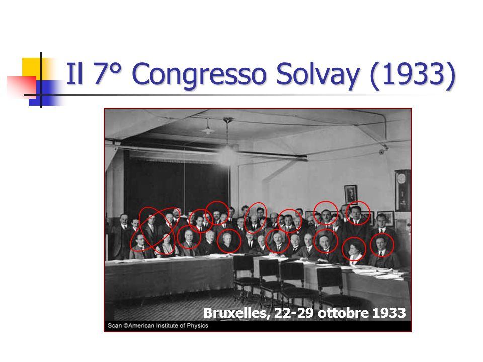 Il 7° Congresso Solvay (1933)