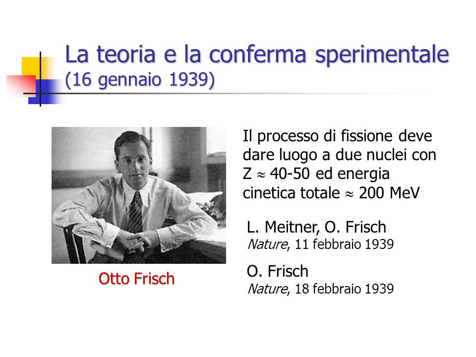 La teoria e la conferma sperimentale (16 gennaio 1939)