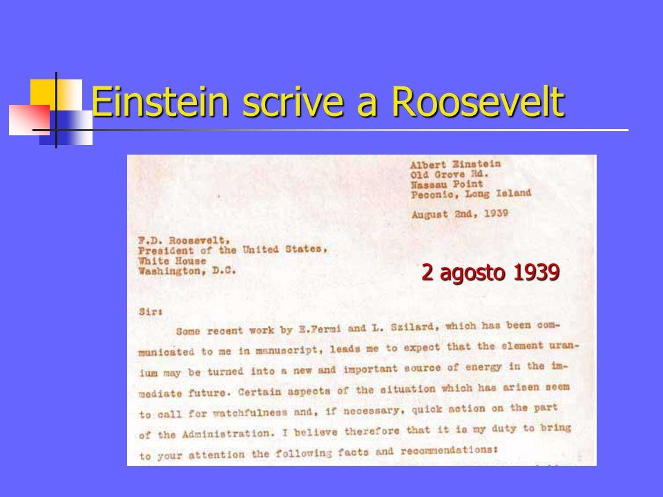 Einstein scrive a Roosevelt