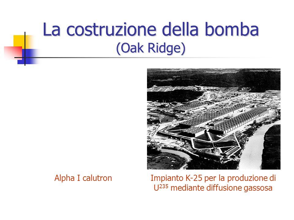 La costruzione della bomba (Oak Ridge)