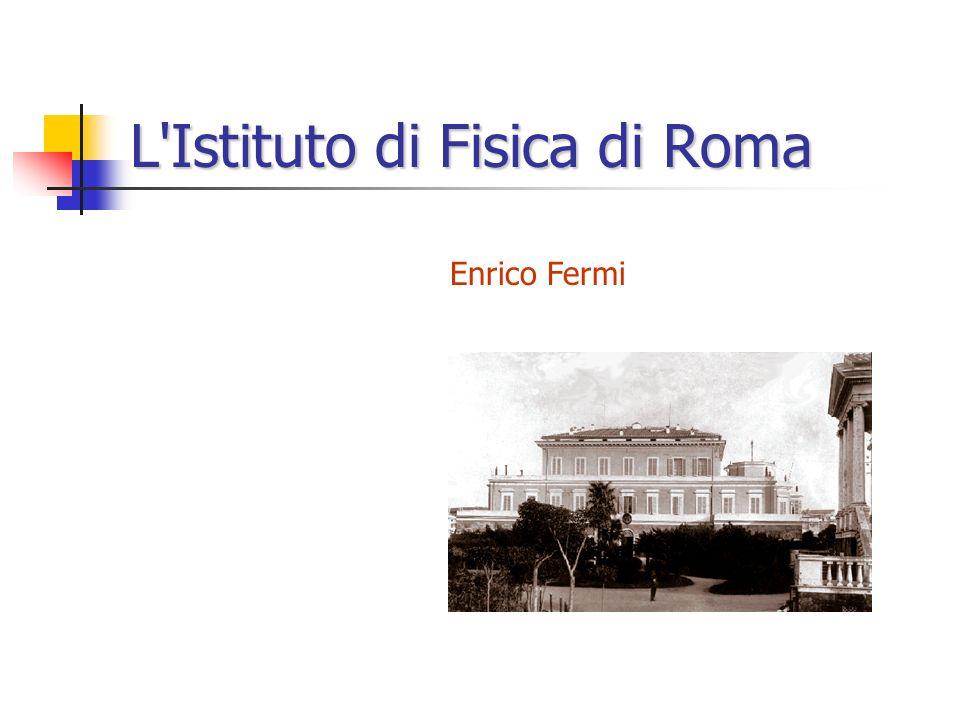 L Istituto di Fisica di Roma