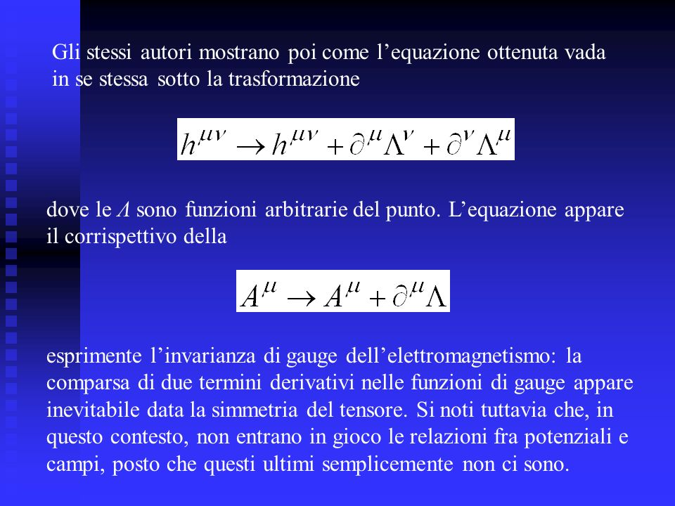 Gli stessi autori mostrano poi come l'equazione ottenuta vada