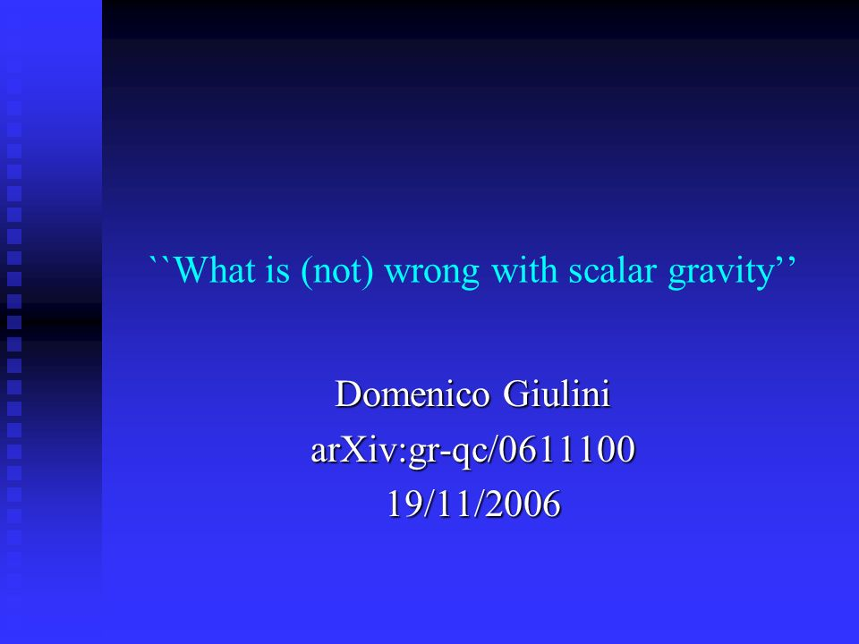 ``What is (not) wrong with scalar gravity''