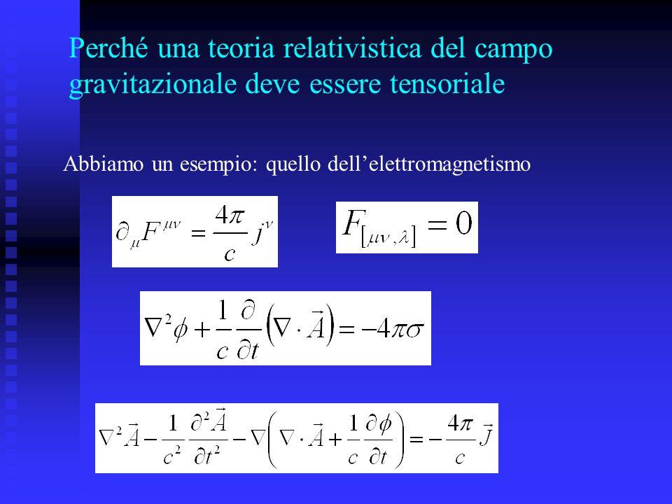 Perché una teoria relativistica del campo gravitazionale deve essere tensoriale