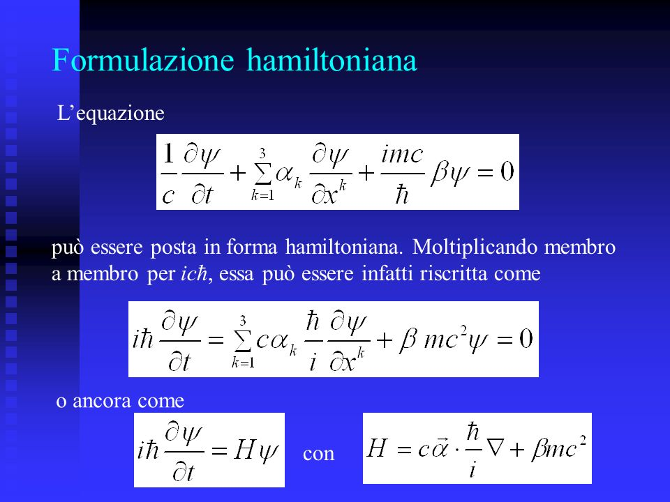 Formulazione hamiltoniana
